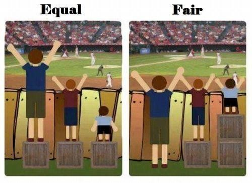 Equal vs. Fair - college SAT ACT