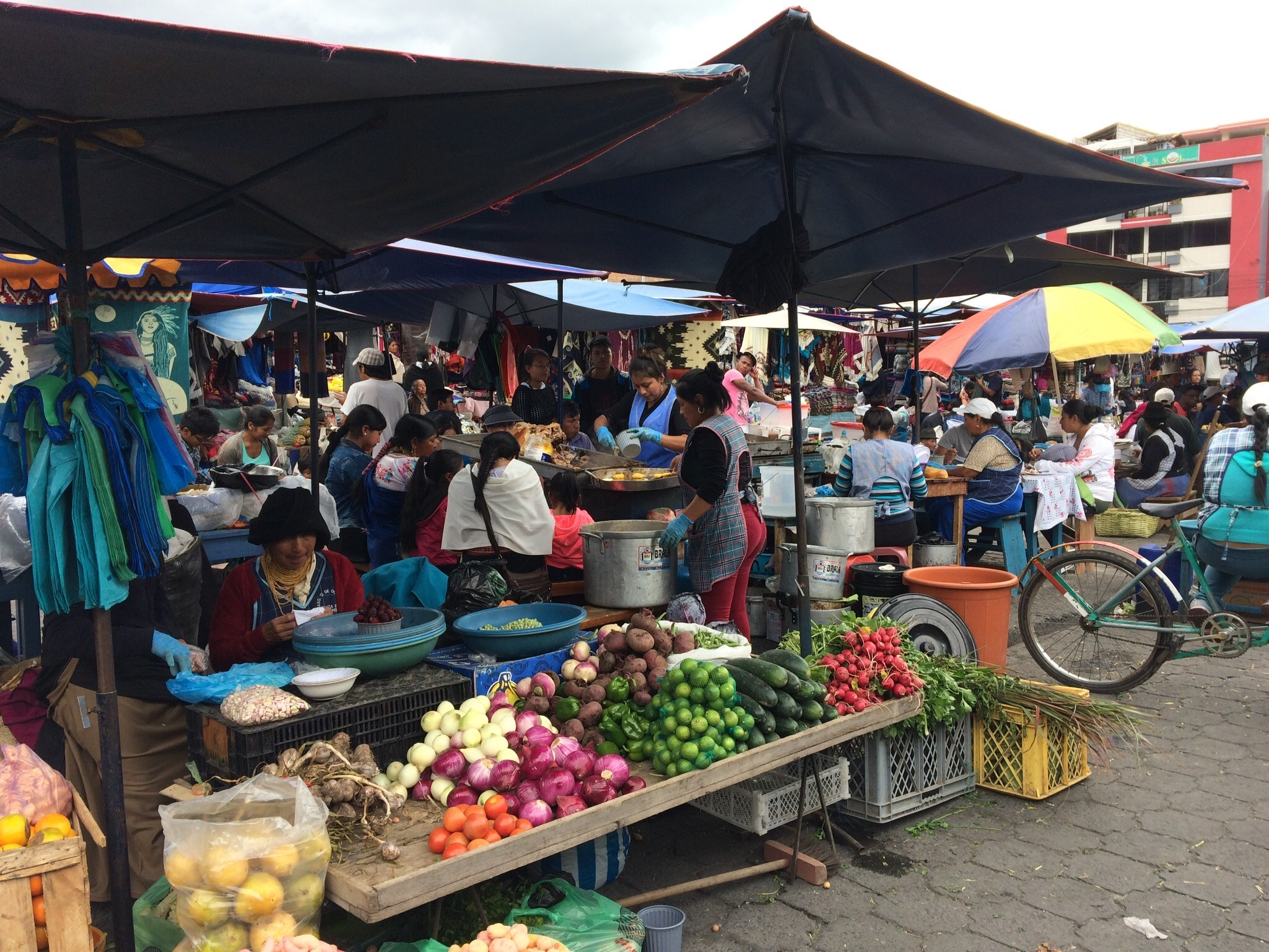Local colorful market